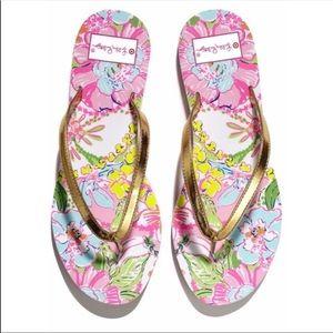 LILLY PULITZER FOR TARGET Flip Flops Sandals Sz 9